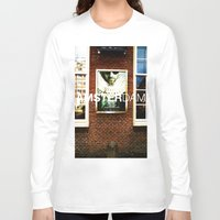 movie posters Long Sleeve T-shirts featuring Amsterdam Posters by Cristhian Arias-Romero