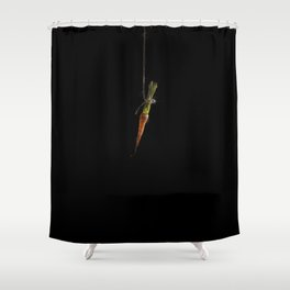 Vegetable Vanitas: The Carrot Painting by Brooke Figer Shower Curtain
