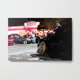 Car meet in the snow Metal Print