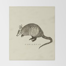 Armadillo power Throw Blanket
