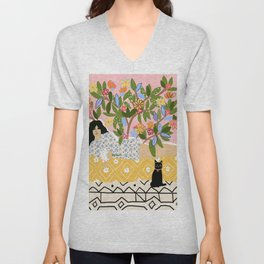 Paint Me Like One of Your French Ladies Unisex V-Neck