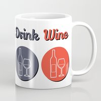wine Mugs featuring wine by flydesign
