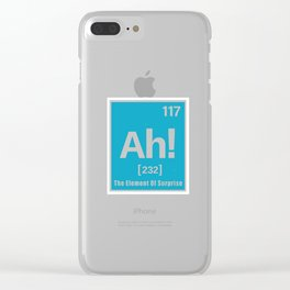 Ah the Element of suprise Clear iPhone Case