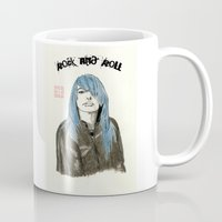 rock and roll Mugs featuring Rock and Roll by Bryan James