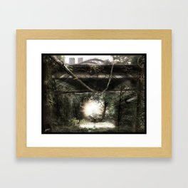 Dystopian Bridge Framed Art Print
