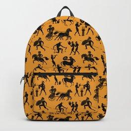 Greek Figures // Orange Backpack
