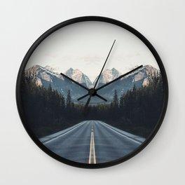 Mountain Twins Wall Clock