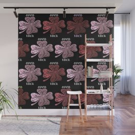 Four Leaf Clover Pattern Wall Mural