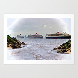 Three Queens on the River Art Print