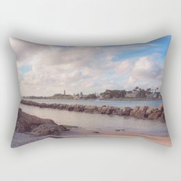 Winter Afternoon, Jupiter Inlet Lighthouse Rectangular Pillow