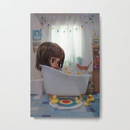BATH TIME BLYTHE DOLL BY ERREGIRO Metal Print