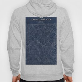 Map Of Dallas 1884 Hoody