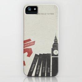 V Vendetta, alternative movie poster, graphic novel, Alan Moore, Natalie Portman, Guy Fawkes, S. Fry iPhone Case