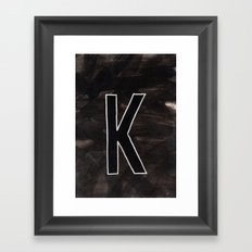- K - Framed Art Print