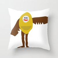 birdman Throw Pillows featuring Surreal Birdman by SlugBoy