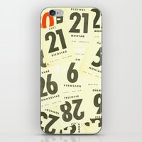 calendar iPhone & iPod Skins featuring CLOSEUPS - Calendar Sheets by Cordula Kerlikowski