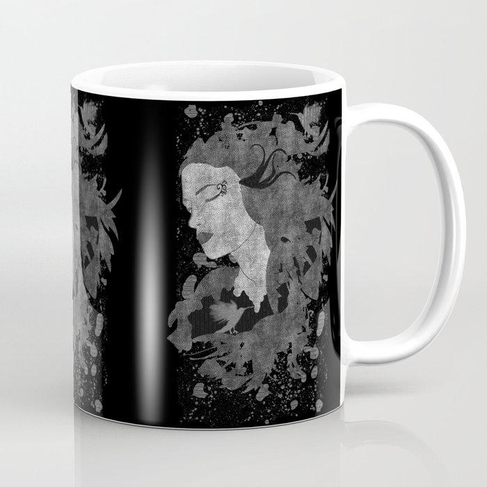 Cosmic dreams (B&W) Coffee Mug