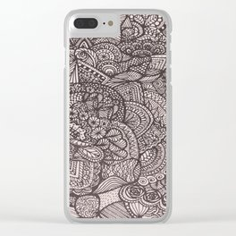 Doodle 8 Clear iPhone Case