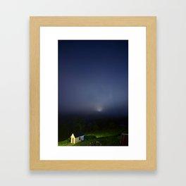Moon, Stars, and Fog Framed Art Print