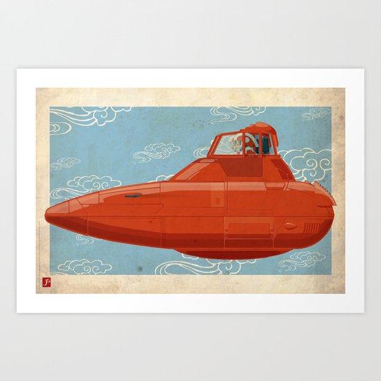 Twin Pod Cloud Car The Empire Strikes Back Art Print