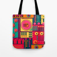 sunrise Tote Bags featuring Sunrise by Shelly Bremmer