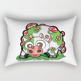 MOOSHROOM Cow with Mushrooms fly agaric Cartoon Rectangular Pillow