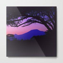 Pink-Lilac Sunrise Over Mt. Kilimanjaro (Tanzania, Africa) Metal Print