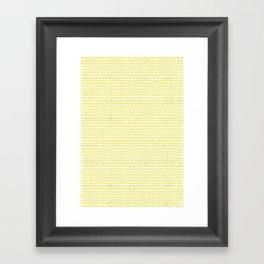 Chevron Yellow Framed Art Print