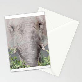 Foraging Elephant Stationery Cards