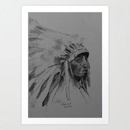Eagle War Bonnet Art Print