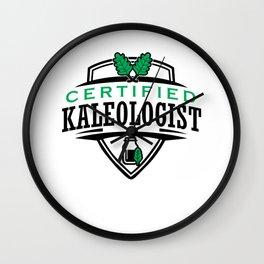 Certified Kaleologist Kale Art for Vegans on Diet Light Wall Clock