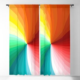 Multi Color Abstract Design Blackout Curtain