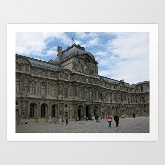 Louvre Museum, Paris Art Print