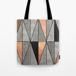 Concrete and Copper Triangles Tote Bag