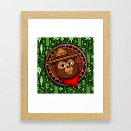 camp Bear Framed Art Print