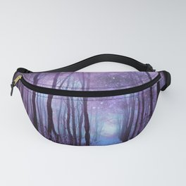 Fantasy Forest Path Muted Violet Fanny Pack