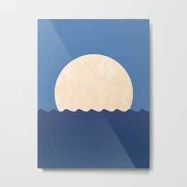 Moonrise Night Sky Metal Print
