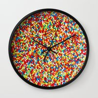 sprinkles Wall Clocks featuring Sprinkles by Rupert & Company