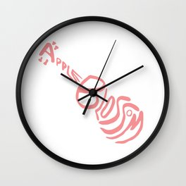 Apple Blossom (Pink) Wall Clock