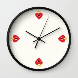 King of my heart Wall Clock