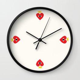 King of my heart Wall Clock