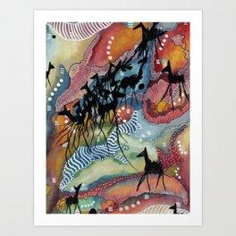 Go with the Herd Art Print