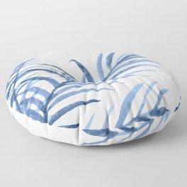 Blue Leaves II Floor Pillow