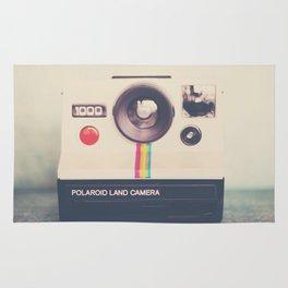 portrait of a polaroid ...  Rug
