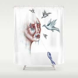 Whisperer Shower Curtain