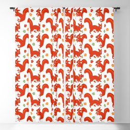 Red Squirrels Blackout Curtain