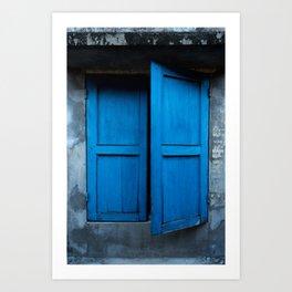 Blue Shutters - Hoi An, Vietnam Art Print