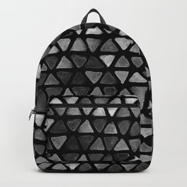Triangle Watercolor Seamless repeating Pattern - Black and White Backpack