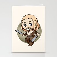 fili Stationery Cards featuring Fili by Kata (koomalaama)