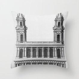 Saint-Sulpice, Grand Portail Throw Pillow